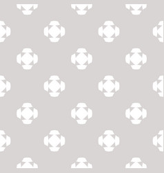 minimalist pattern with crosses floral shapes vector image vector image