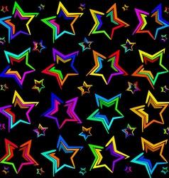 Neon bright stars vector image vector image