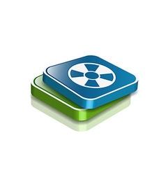 Nuclear web icon vector