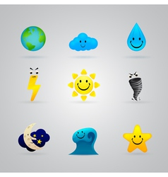 painted color icons vector image vector image