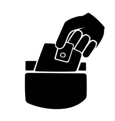 pickpocketing symbol vector image vector image