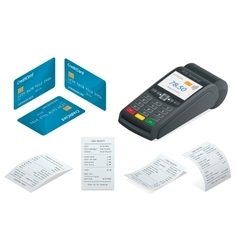 POS Terminal debit credit card Sales printed vector image vector image