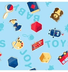 Seamless texture of toys vector image vector image