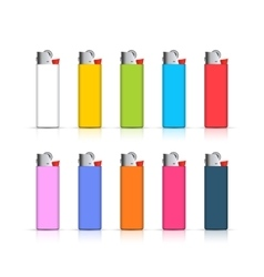 Set of colorful lighters Template for corporate vector image