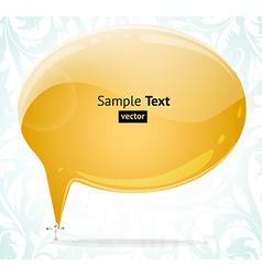 Speech bubble design vector