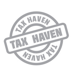 Tax haven rubber stamp vector
