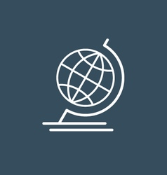 Terrestrial globe wireframe icon vector