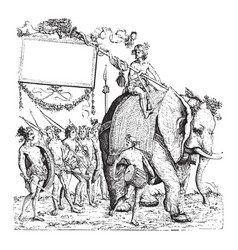 The savages of calicut from the engraving the vector