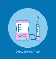 Tooth hygiene oral irrigator dentist vector