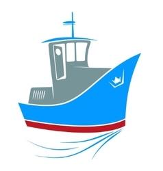 Tugboat at sea vector image