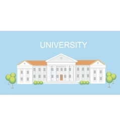 University or college building campus design vector
