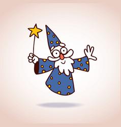 wizard character vector image vector image