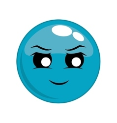 Face evil cartoon expression icon graphic vector