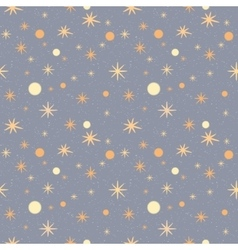 Pattern with stars on a grey speckled background vector