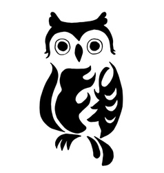 High quality owl for coloring or tattoo isolated vector