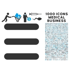 Menu items icon with 1000 medical business vector
