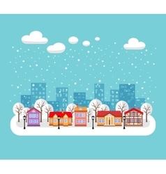 Christmas cityscape vector