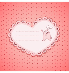 Baby Frame on Pink Background vector image