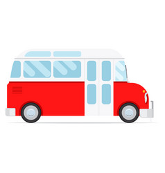 Red cartoon bus vector