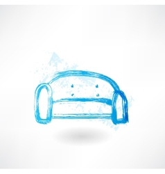 Sofa grunge icon vector