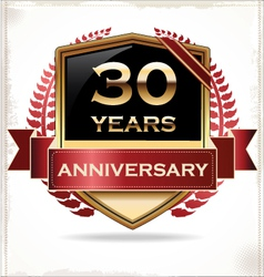 30 years anniversary golden label vector image vector image