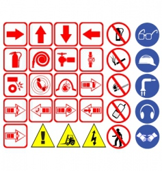 Safety hazard signs vector