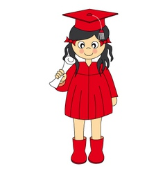 Girl graduation vector