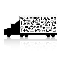Truck with goods vector