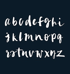 The english alphabet drawn in ink vector