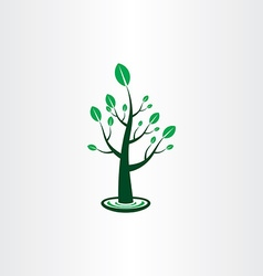 Tree with green leaves icon sign design element vector