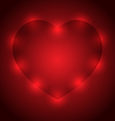 Abstract hearts on a dark background vector