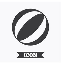 Beach ball sign icon water ball vector