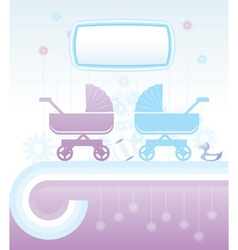 baby and children background vector image vector image