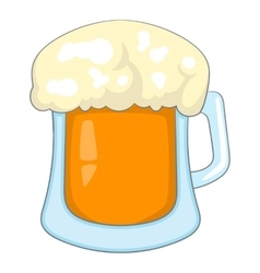 Beer icon cartoon style vector