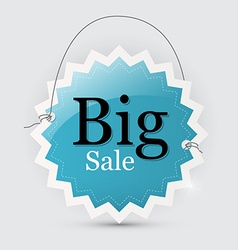 Big Sale Blue Tag with String vector image vector image