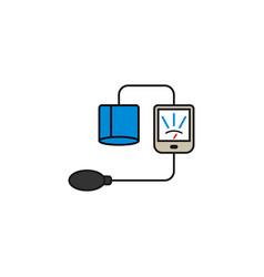 Blood sphygmomanometer solid icon vector