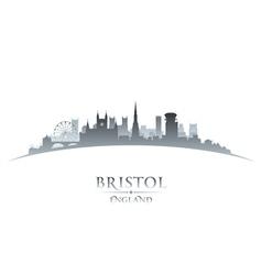 Bristol england city skyline silhouette vector