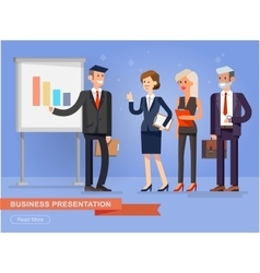 Business team presentation vector image