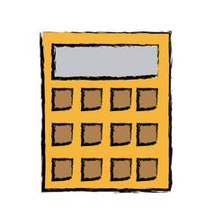 calculator financial business equipment account vector image