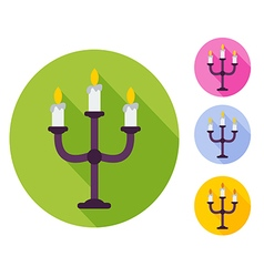 candlestick flat vector image vector image
