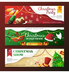 Christmas Party Invitation Banners vector image vector image