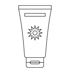 Cream sun protection icon outline style vector