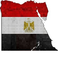 Egypt map with flag inside vector image vector image