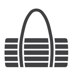Fitness bag glyph icon fitness and sport vector