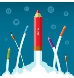 Flat design business startup concept vector image