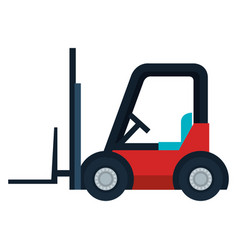 Forklift cart isolated icon vector