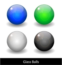 glossy color abstract glass balls vector image vector image