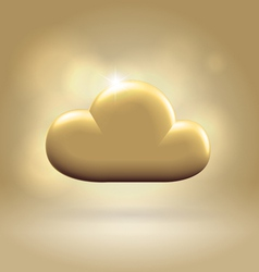 Golden cloud award vector image vector image