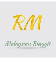Golden ringgit symbol vector