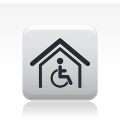 handicap house icon vector image vector image